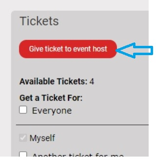 Give Ticket to Event Host