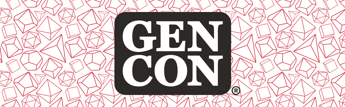 Red banner image with Gen Con logo